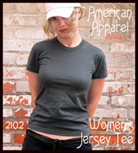 American Apparel Womens Jersey T-shirts 2102 Wholesale Blank T-shirts